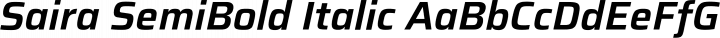 Saira SemiBold Italic free font