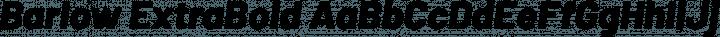 Barlow ExtraBold Italic free font
