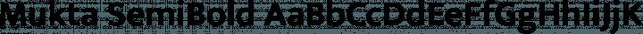 Mukta SemiBold free font