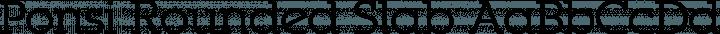 Ponsi Rounded Slab font family by TypeFaith