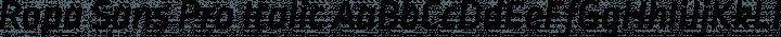 Ropa Sans Pro Italic free font