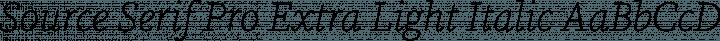 Source Serif Pro Extra Light Italic free font