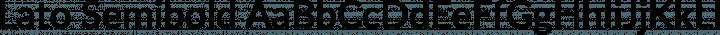 Lato Semibold free font