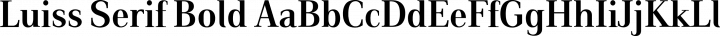 Luiss Serif Bold free font
