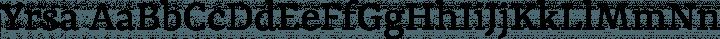 Yrsa font family by Rosetta