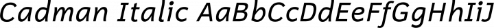 Cadman Italic free font
