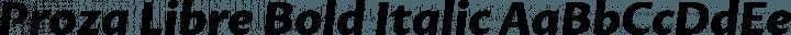 Proza Libre Bold Italic free font