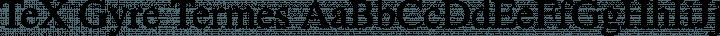 TeX Gyre Termes Regular free font