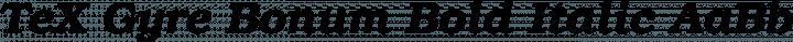 TeX Gyre Bonum Bold Italic free font