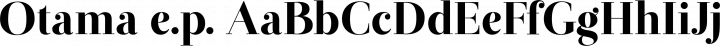 Otama e.p. font family by Tim Donaldson
