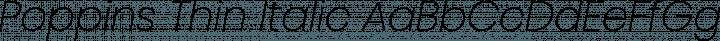 Poppins Thin Italic free font