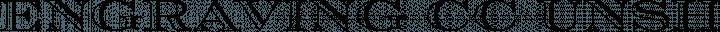 Engraving CC Unshaded free font