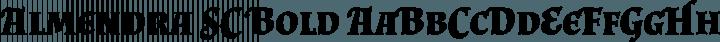 Almendra SC Bold free font
