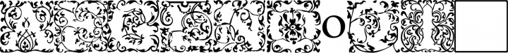 EB Garamond Initials Fill1 free font