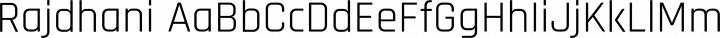 Rajdhani Regular free font