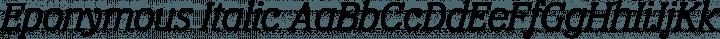 Eponymous Italic free font