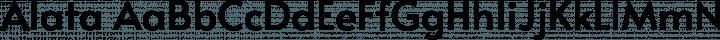 Alata Regular free font