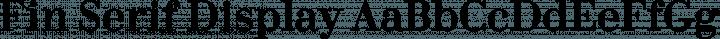 Fin Serif Display Regular free font