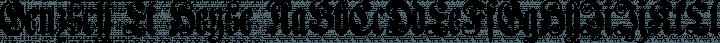 Genzsch Et Heyse Regular free font