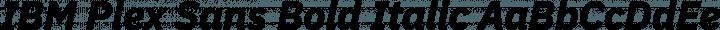 IBM Plex Sans Bold Italic free font