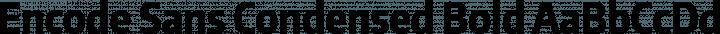 Encode Sans Condensed Bold free font