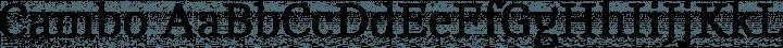 Cambo font family by Huerta Tipográfica