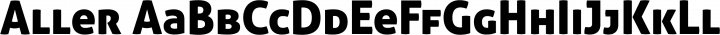 Aller font family by Dalton Maag Ltd