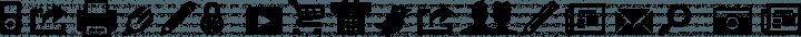 Modern Pictograms font family by John Caserta