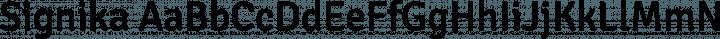 Signika Regular free font