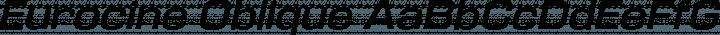 Eurocine Oblique free font