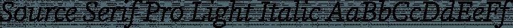 Source Serif Pro Light Italic free font