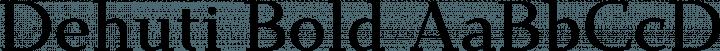 Dehuti Bold free font