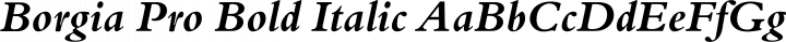 Borgia Pro Bold Italic free font