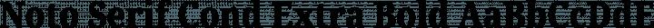 Noto Serif Cond Extra Bold free font