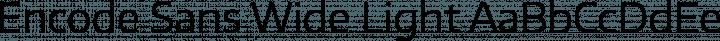 Encode Sans Wide Light free font