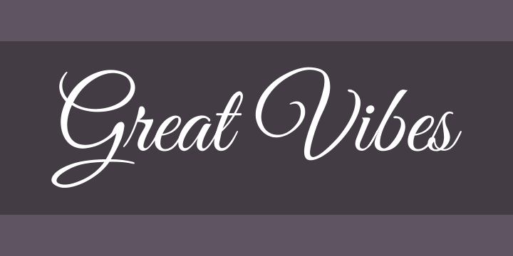 Great Vibes Font Free By TypeSETit Squirrel