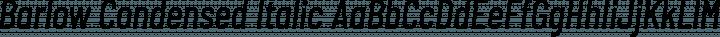 Barlow Condensed Italic free font