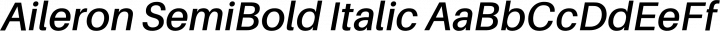 Aileron SemiBold Italic free font