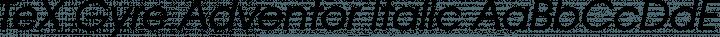 TeX Gyre Adventor Italic free font