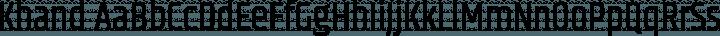 Khand Regular free font