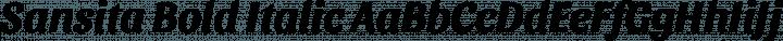 Sansita Bold Italic free font