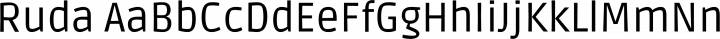 Ruda Regular free font