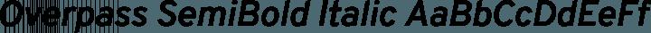 Overpass SemiBold Italic free font