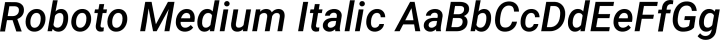 Roboto Medium Italic free font