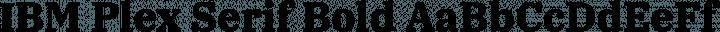 IBM Plex Serif Bold free font