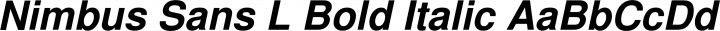 Nimbus Sans L Bold Italic free font