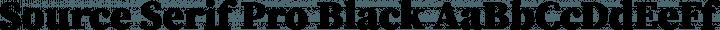 Source Serif Pro Black free font