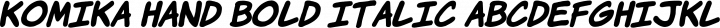 Komika Hand Bold Italic free font