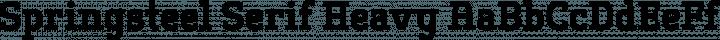 Springsteel Serif Heavy free font