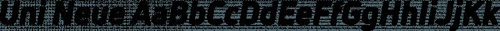 Uni Neue font family by Fontfabric